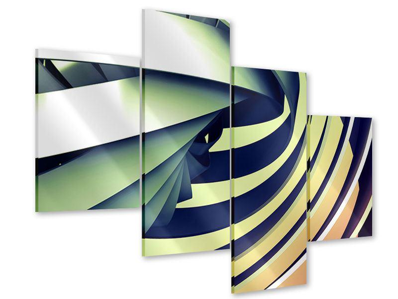 Acrylglasbild 4-teilig modern Abstrakte Perspektiven