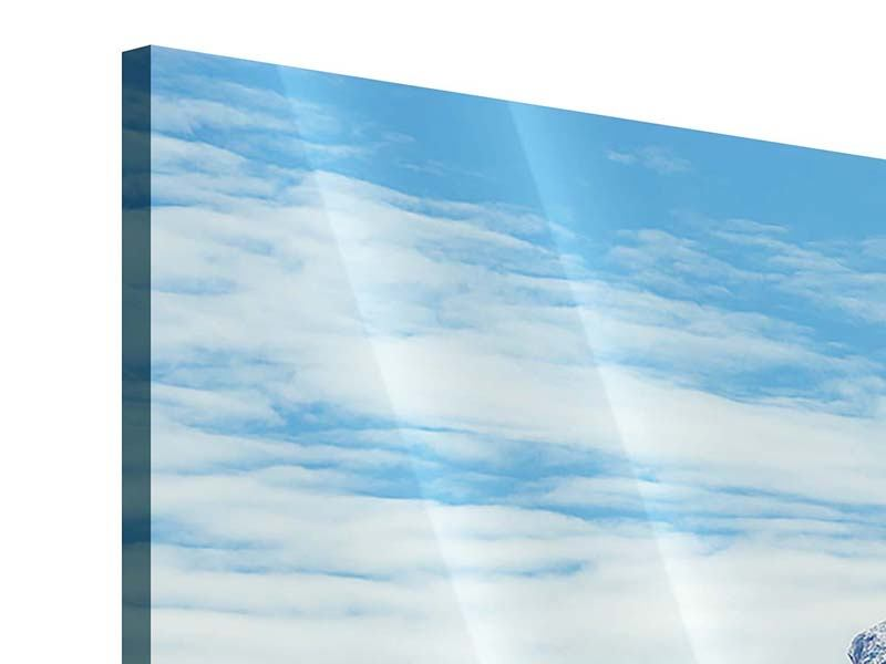 Acrylglasbild 4-teilig modern Friedliche Bergstimmung