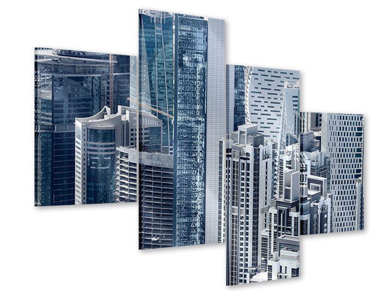 Acrylglasbild 4-teilig modern Die Wolkenkratzer von Dubai