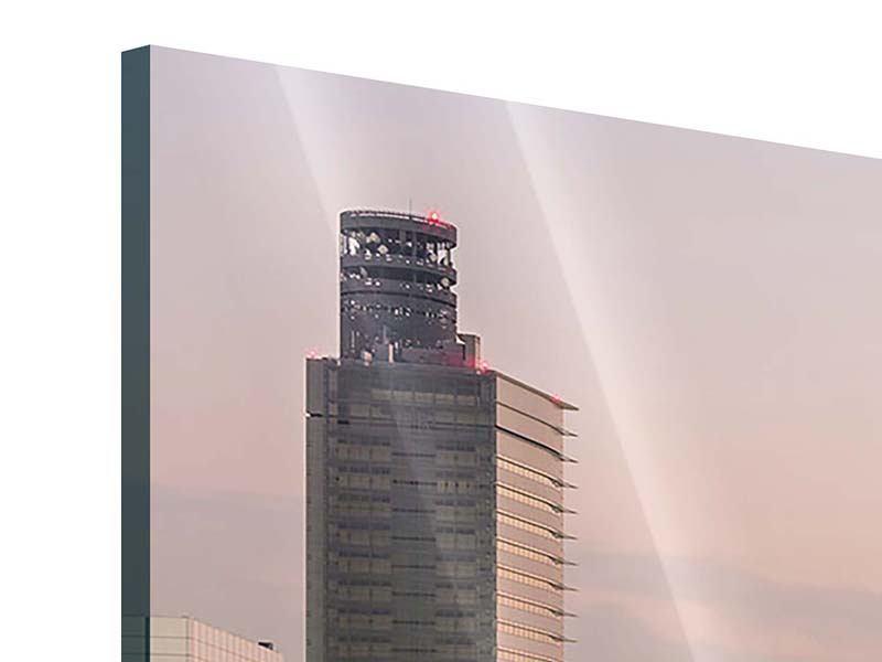 Acrylglasbild 4-teilig modern Skyline Das Lichtermeer von Tokio