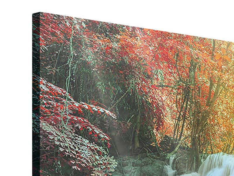 Acrylglasbild 4-teilig modern Wasserfall im Licht