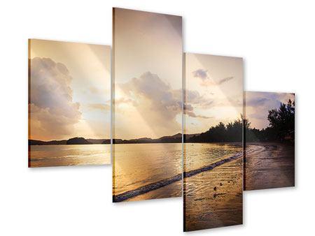 Acrylglasbild 4-teilig modern Das Ufer
