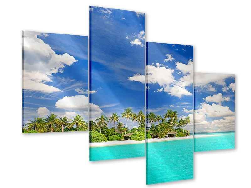 Acrylglasbild 4-teilig modern Meine Insel