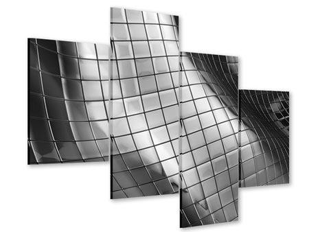 Acrylglasbild 4-teilig modern Abstrakter Stahl