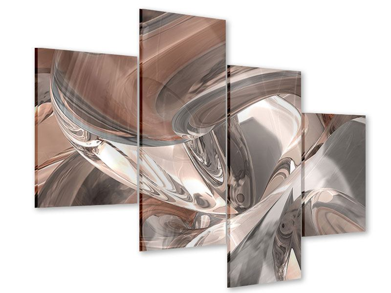 Acrylglasbild 4-teilig modern Abstraktes Glasfliessen