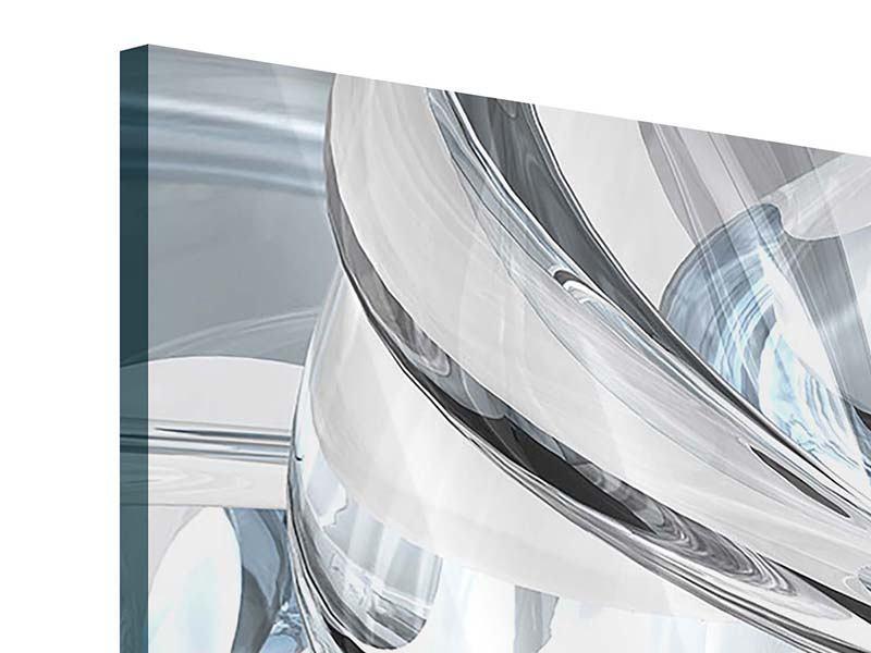 Acrylglasbild 4-teilig modern Abstrakte Glasbahnen