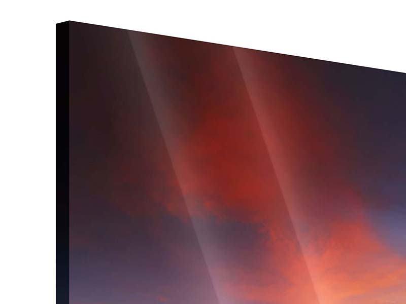 Acrylglasbild 4-teilig modern Ein Sonnenuntergang am Meer