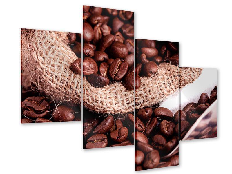 Acrylglasbild 4-teilig modern XXL Kaffeebohnen