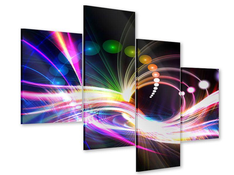 Acrylglasbild 4-teilig modern Abstrakte Lichtreflexe