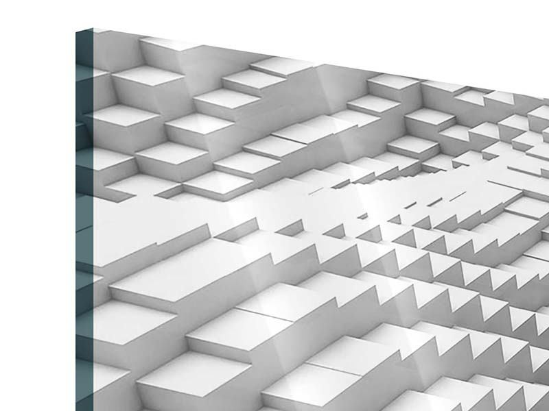 Acrylglasbild 4-teilig modern 3D-Elemente