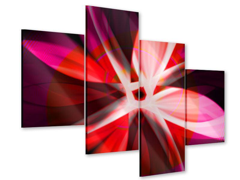 Acrylglasbild 4-teilig modern Abstrakt Flower Power