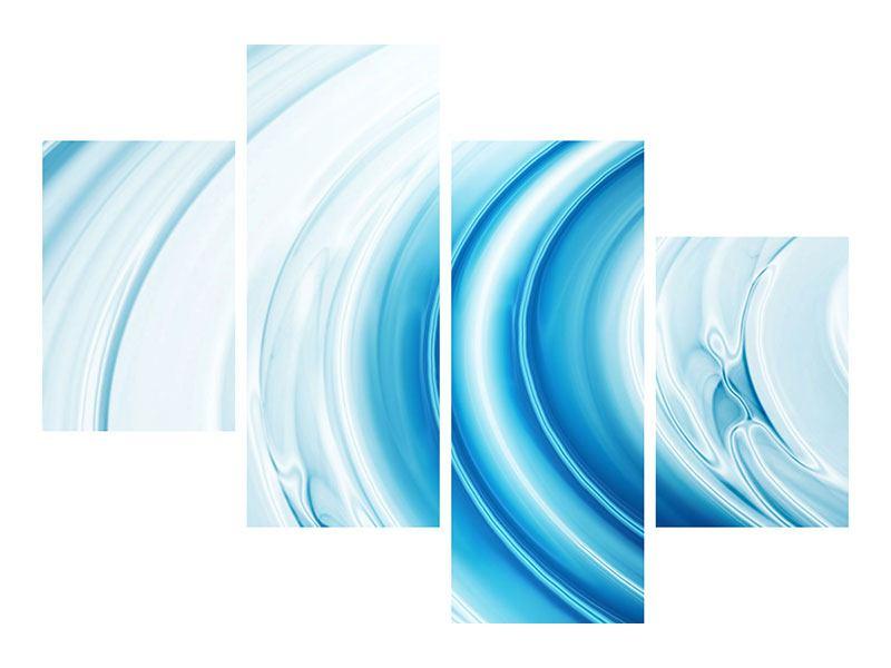 Acrylglasbild 4-teilig modern Abstraktes Glas