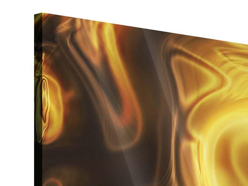 Acrylglasbild 4-teilig modern Abstrakt Flüssiges Gold