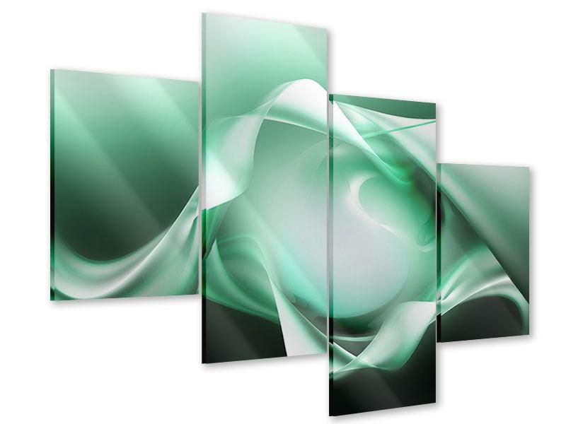 Acrylglasbild 4-teilig modern Abstrakt Tuchfühlung