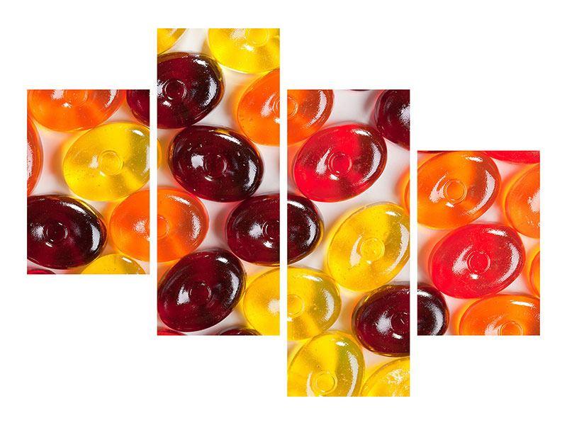 Acrylglasbild 4-teilig modern Bonbons