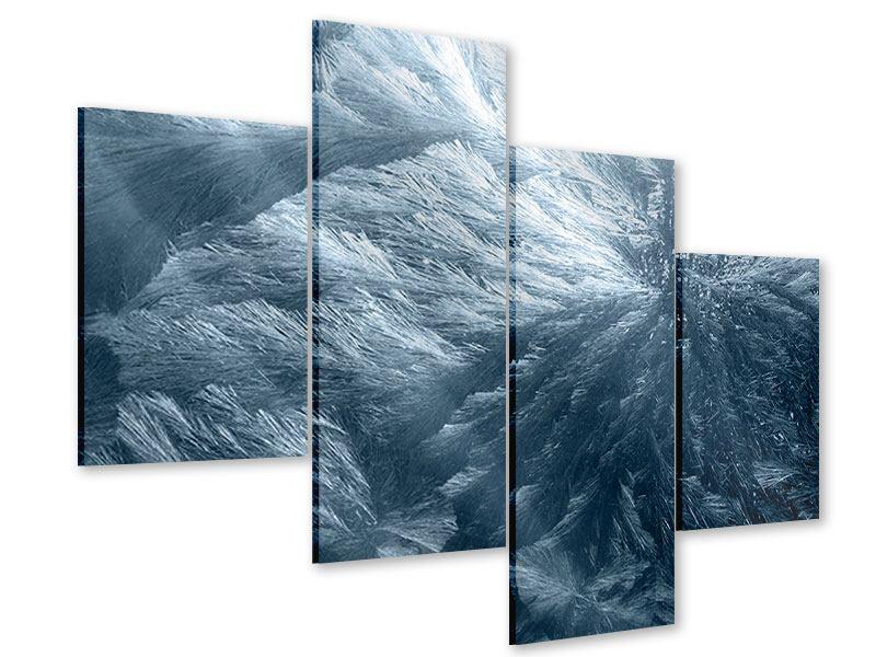 Acrylglasbild 4-teilig modern Eis