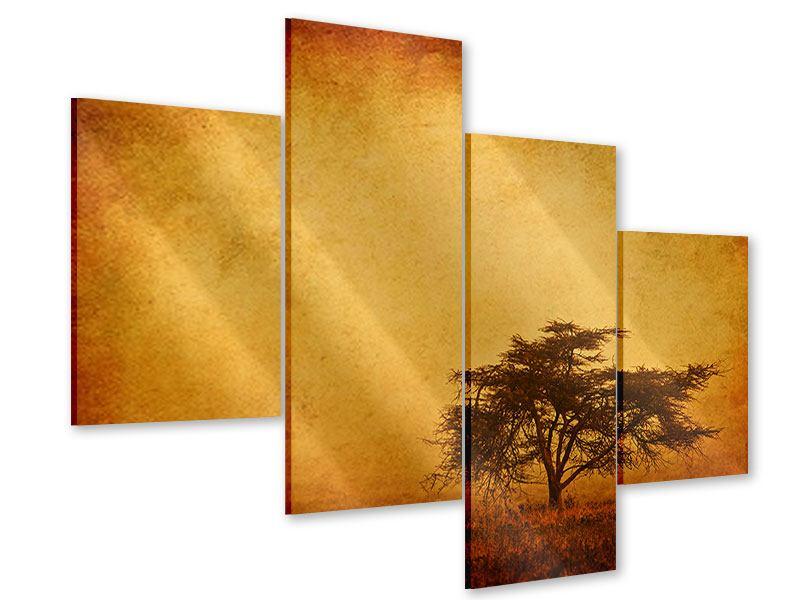 Acrylglasbild 4-teilig modern Sonnenuntergangsstimmung