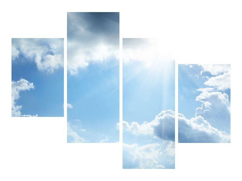 Acrylglasbild 4-teilig modern Himmelshoffnung