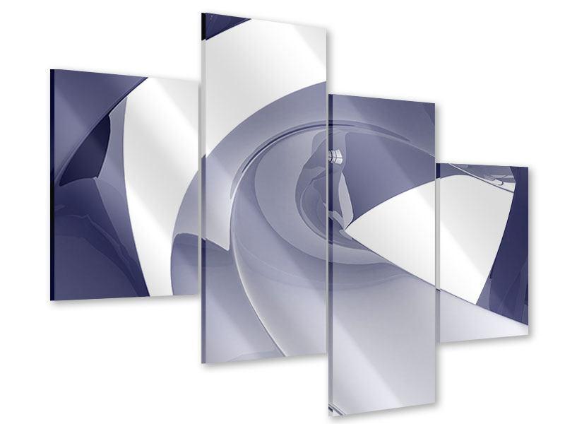 Acrylglasbild 4-teilig modern Abstrakte Schwingungen
