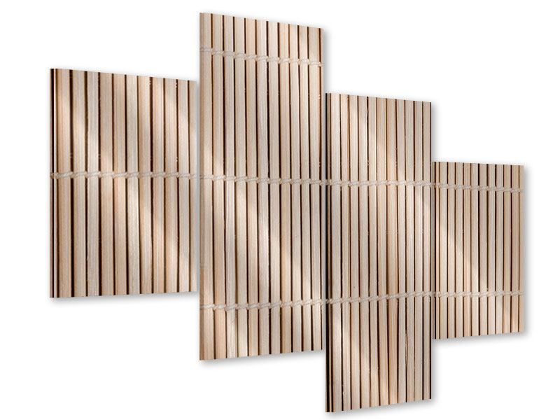 Acrylglasbild 4-teilig modern Lucky Bamboo