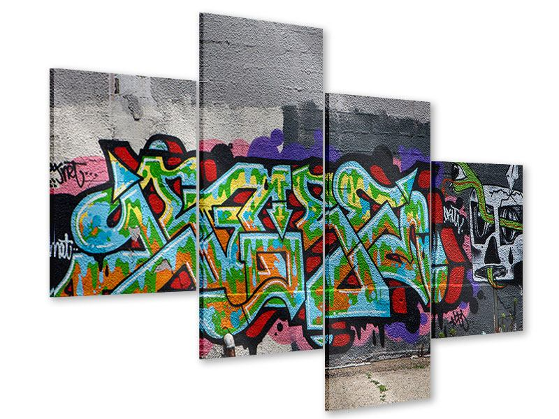 Acrylglasbild 4-teilig modern Graffiti in New York