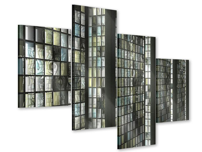 Acrylglasbild 4-teilig modern Windows