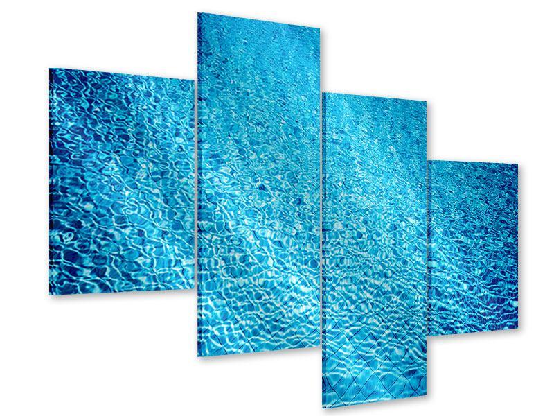 Acrylglasbild 4-teilig modern Tauchgang