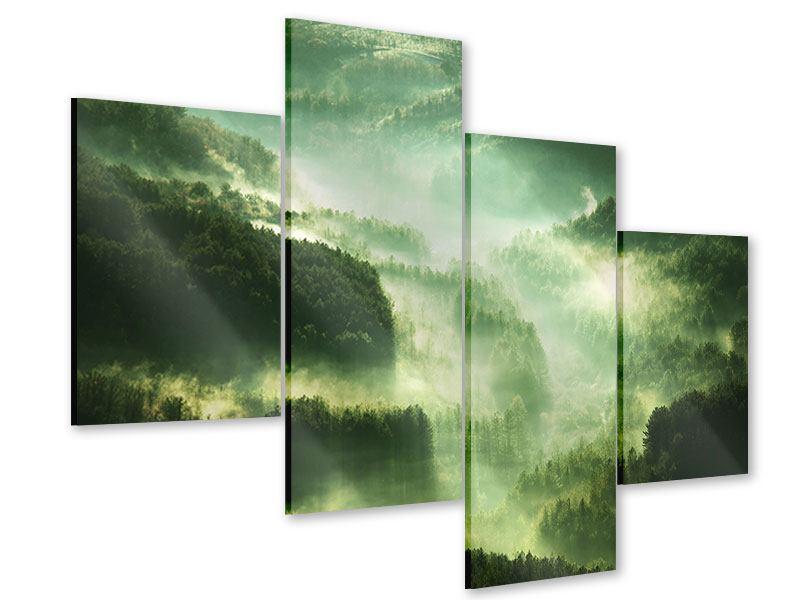 Acrylglasbild 4-teilig modern Über den Wäldern