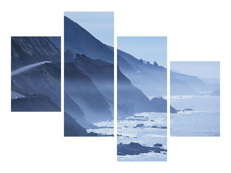 Acrylglasbild 4-teilig modern Bewegung im Wasser