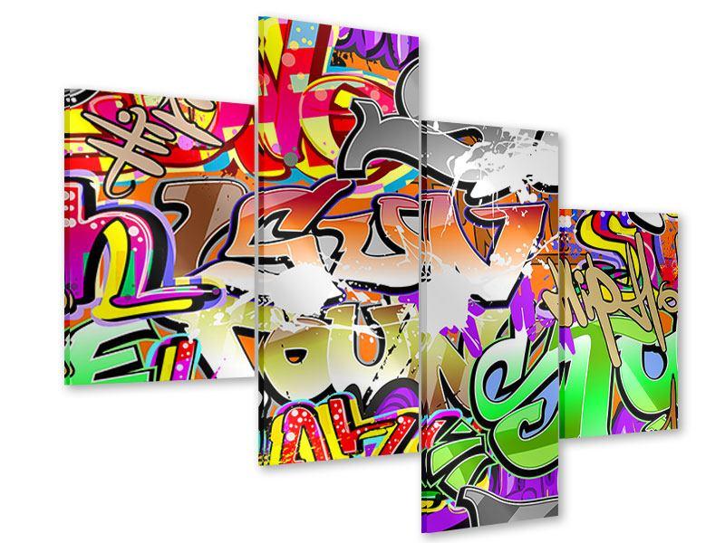 Acrylglasbild 4-teilig modern Writings
