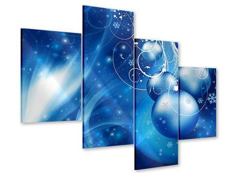 Acrylglasbild 4-teilig modern Shingle Bells