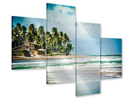 Acrylglasbild 4-teilig modern The Beach