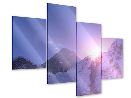 Acrylglasbild 4-teilig modern Sonnenaufgang beim Mount Everest