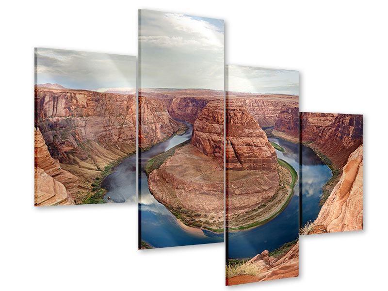 Acrylglasbild 4-teilig modern Horseshoe Bend
