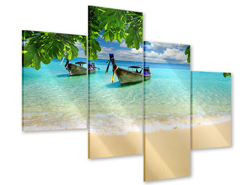 Acrylglasbild 4-teilig modern Ein Blick auf das Meer