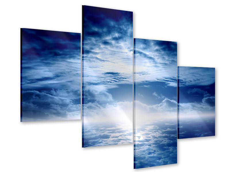 Acrylglasbild 4-teilig modern Mystischer Himmel