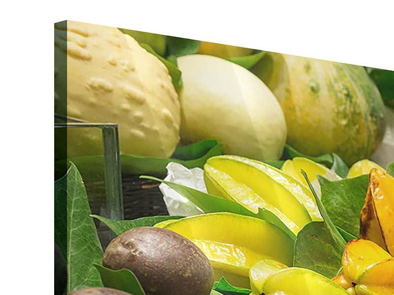 Acrylglasbild 4-teilig modern Früchte