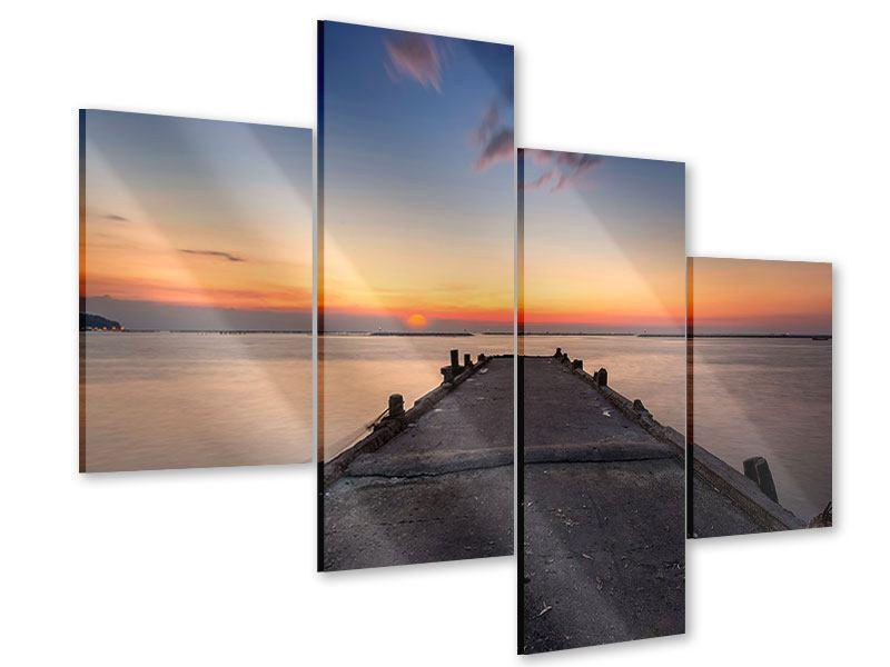 Acrylglasbild 4-teilig modern Der Steg