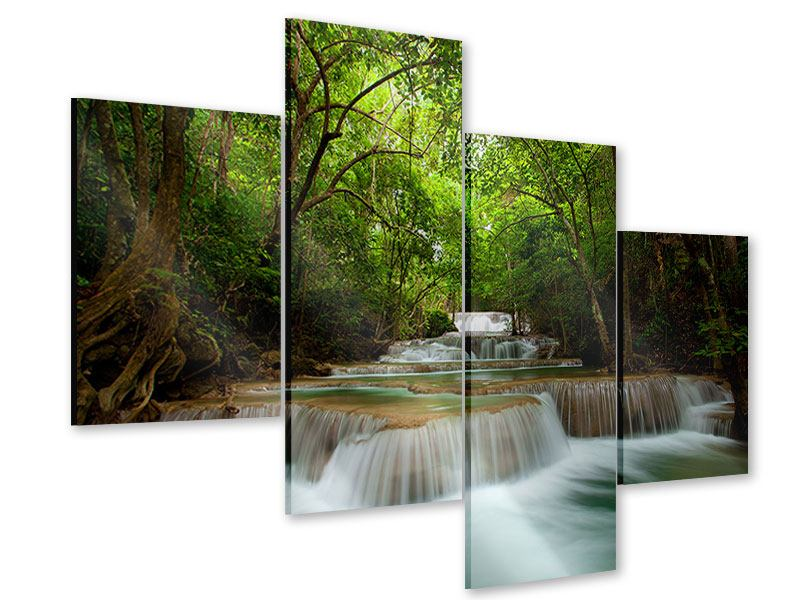Acrylglasbild 4-teilig modern Die 7 Stufen