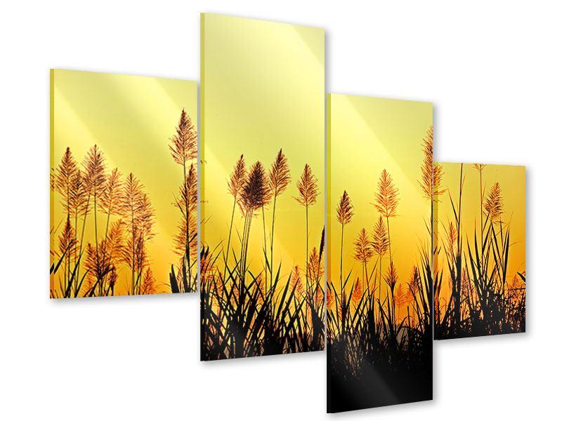 Acrylglasbild 4-teilig modern Die Blumen des Feldes