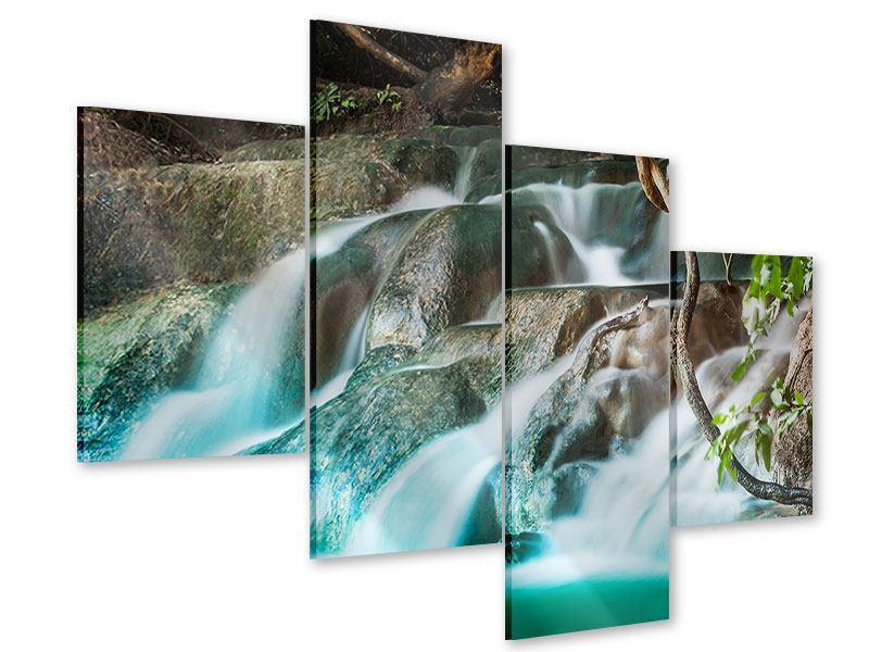 Acrylglasbild 4-teilig modern Am Fluss des Lebens
