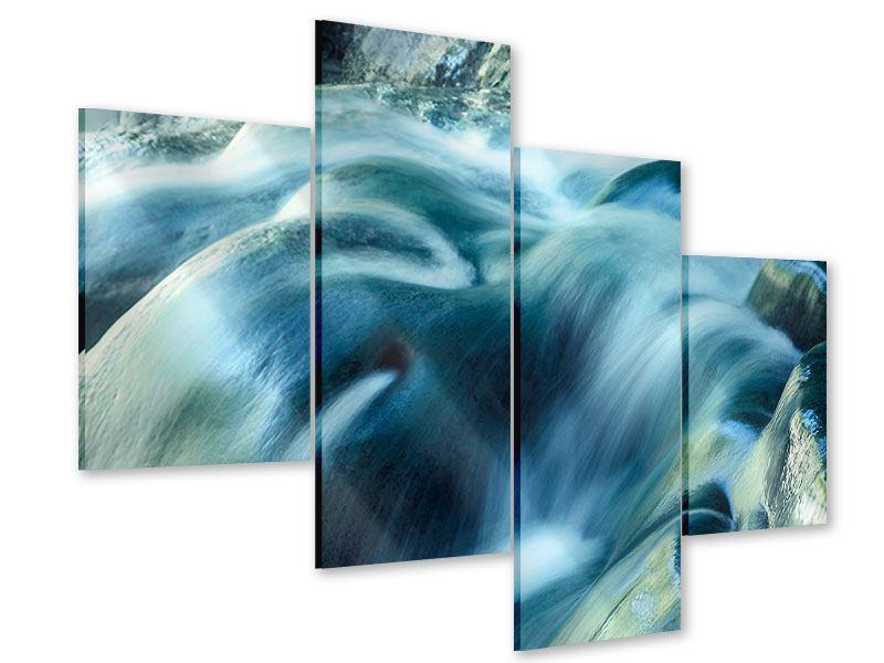 Acrylglasbild 4-teilig modern Das Fliessende Wasser