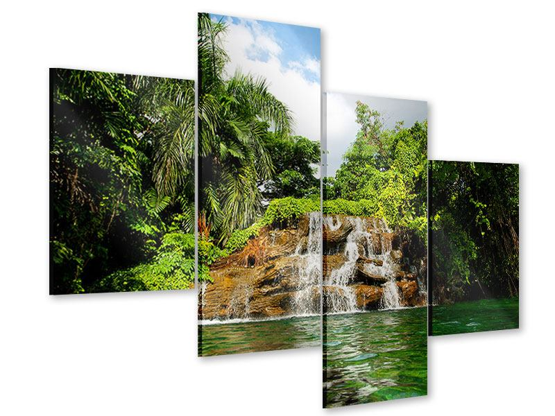 Acrylglasbild 4-teilig modern Lagune