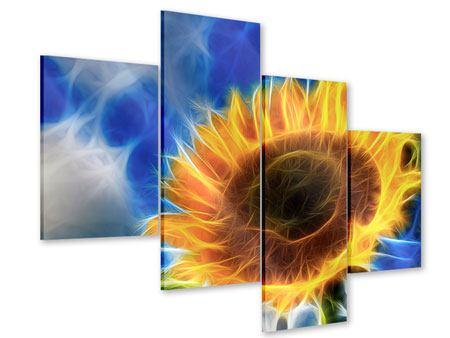 Acrylglasbild 4-teilig modern Der Sonne entgegen