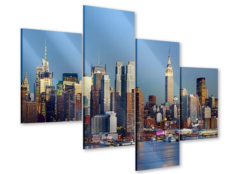 Acrylglasbild 4-teilig modern Skyline Midtown Manhattan