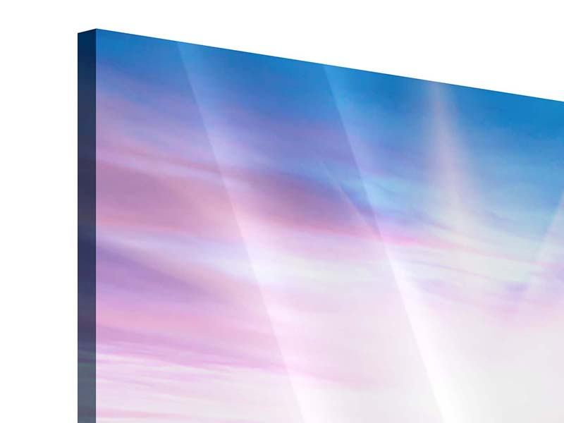 Acrylglasbild 4-teilig modern Eine Sommerlandschaft bei Sonnenaufgang