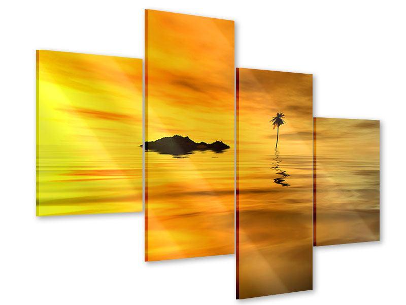 Acrylglasbild 4-teilig modern Ab auf die Insel