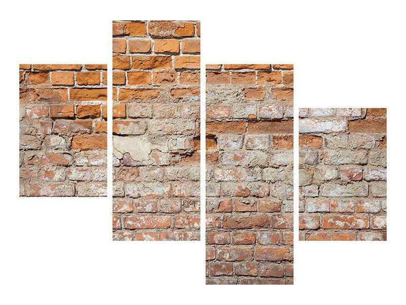 Acrylglasbild 4-teilig modern Alte Klagemauer