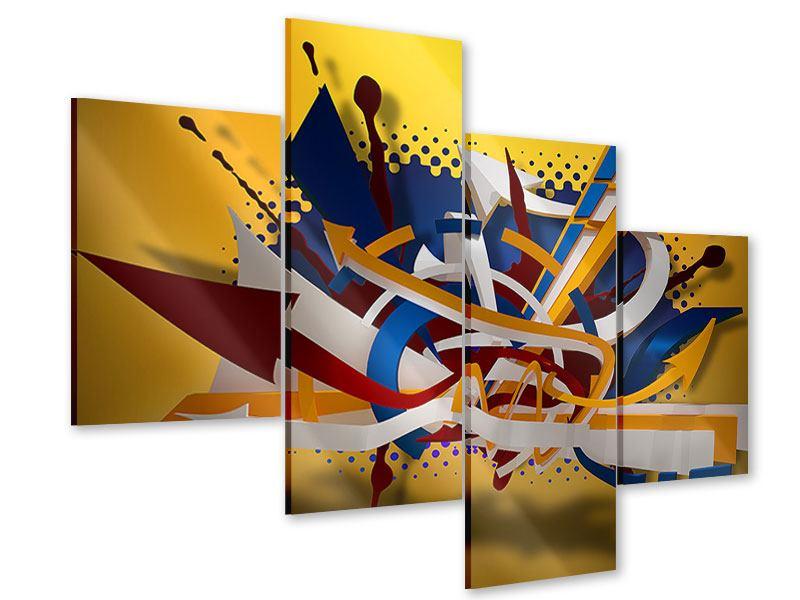 Acrylglasbild 4-teilig modern Graffiti Art
