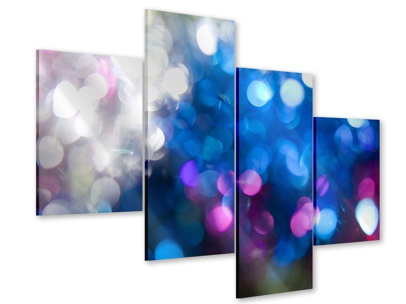 Acrylglasbild 4-teilig modern Abstraktes Licht